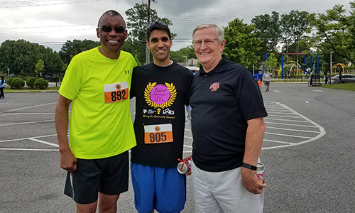 Joe Fisher, Roy Gilmore (FGCB Board Chair), and Anil Kochhar (FGCB Board Member)
